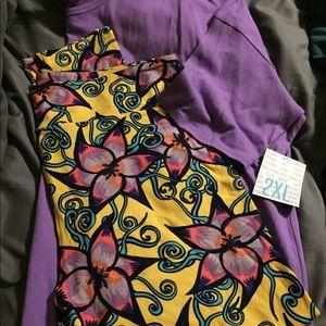 Lularoe matching set Irma tc2 leggings